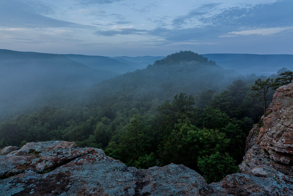 Sam's Throne in Big Creek Valley in the Ozark Mountains